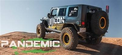 Pandemic Tail Light Conversion KIT Jeep Wrangler JK JKU 07-18 W// Clear LEDS 4x4