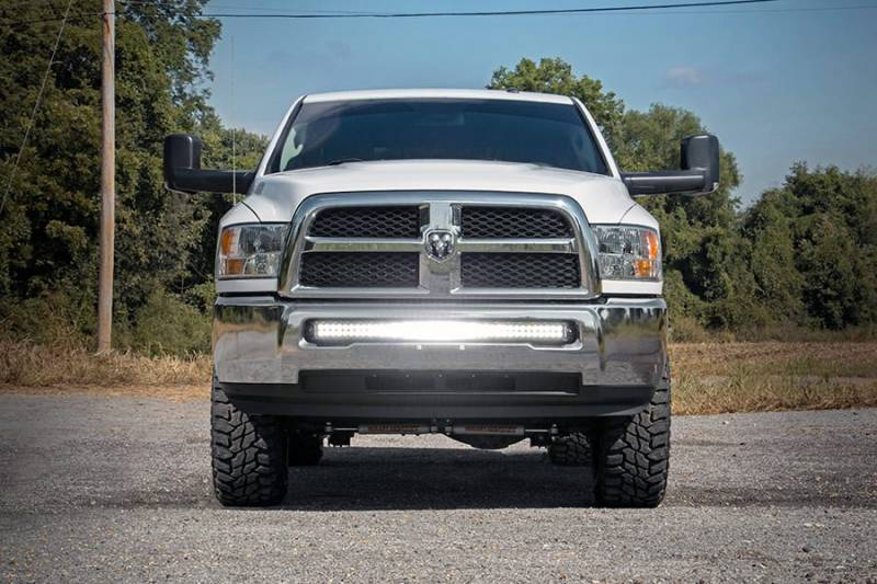Dodge 40 Inch Curved Led Light Bar Hidden Bumper Mounts