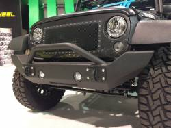 IRON CROSS - IRON CROSS Front Full Width Bumper for Jeep Wrangler JK JKU 07-18 - WITH BAR - GP-1300