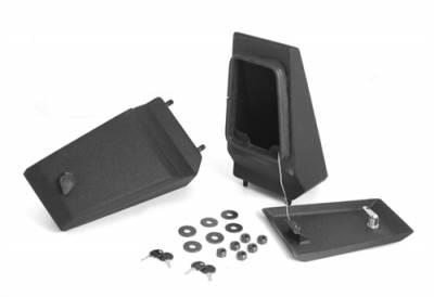 Rugged Ridge - Storage Ends, XHD Front Bumper, Textured Black, Jeep CJ5 1976-1983, 1976-1986 CJ7, 1981-1986 CJ8, Wrangler (YJ) 1987-1995, (TJ) 1997-2006  -11540.43