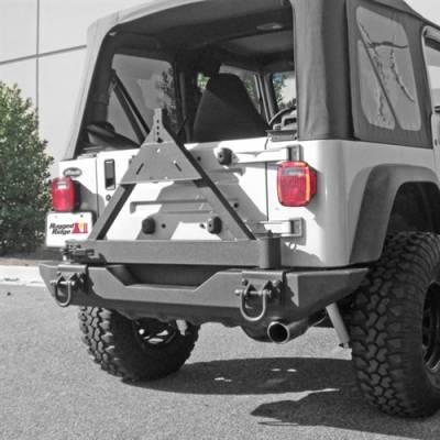 Rugged Ridge - Tire Carrier Add On For XHD Rear Bumper Jeep CJ5 1976-1983, CJ7 1976-1986, CJ8 1981-1986 Wrangler (YJ) 1987-1995, (TJ) 1997-2006  -11546.42