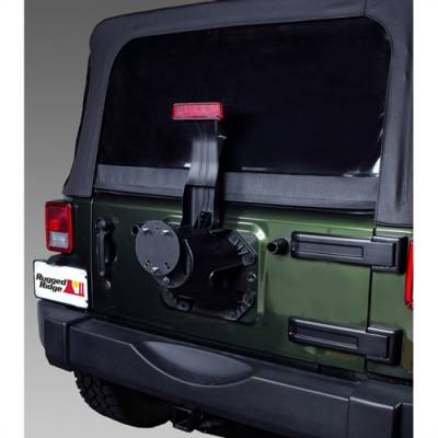 Rugged Ridge - Tire Carrier Spacer, Rugged Ridge, Textured Black, Jeep CJ5 76-83, CJ7 76-86, CJ8 81-86, Wrangler YJ 87-95, TJ 97-06, JK 07-15   -11585.02