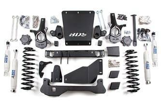 "BDS Suspension - BDS Suspension 6-1/2"" Lift Kit for 2000 - 2006 Chevrolet/GMC 4WD Avalanche, Suburban, Tahoe, Yukon, and Yukon XL, Escalade AWD, 1500 1/2 ton SUVs  - 183H"