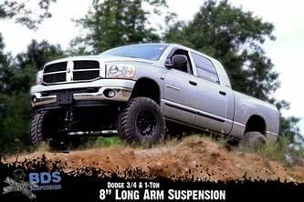 """BDS Suspension - BDS Suspension 8"""" Long Arm Kit for 2008 3/4 Ton & 1 Ton 4WD Pickup  -641H"""