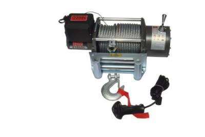 Engo USA - ENGO E Series E16000 Winch W/ Heavy Duty Zinc Plated Roller fairlead 12mm X 26m Galvanized Cable -77-16000
