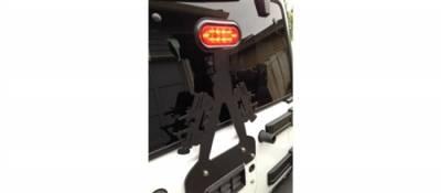 GraBars - 3rd Brake Light Bracket - Jeeps with LED Light fits 07-15 Jeep Wrangler JK