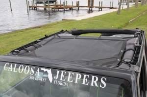 GEARSHADE - HalfShade Jeep Wrangler JKU 4 Door 07-15 GearShade Pocket Top  -HSJKU
