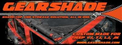GEARSHADE - HalfShade Jeep Wrangler YJ 87-95 GearShade Pocket Top -HSYJ