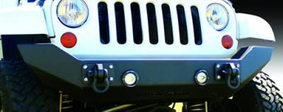 IRON CROSS - IRON CROSS Front Full Width Bumper for Jeep Wrangler JK JKU 07-18 - NO BAR - GP-1100