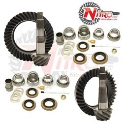 Nitro Gear & Axle - NITRO GEAR PACKAGE FOR 97-06 Jeep Wrangler TJ & LJ, 96-04 Grand Cherokee ZJ & WJ and 2001 Cherokee XJ with Model 35 Rear, (Choose Ratio)  -GPTJ35