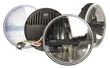 """Truck-Lite - Truck-Lite 7"""" Round LED Headlamp - Fits Jeep Wrangler JK TJ CJ or any 7"""" Round H4 Style - PAIR"""