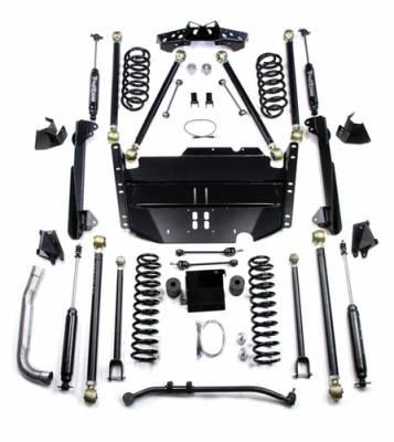 "TeraFlex - TeraFlex TJ 4"" Pro LCG Long Flexarm Suspension System w/ 9550 Shocks"