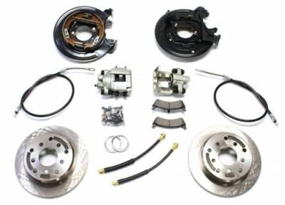 TeraFlex - TeraFlex 97-06 Jeep Wrangler TJ Rear Disc Brake Conversion Kit w/ E-Brake Cables  -4354425