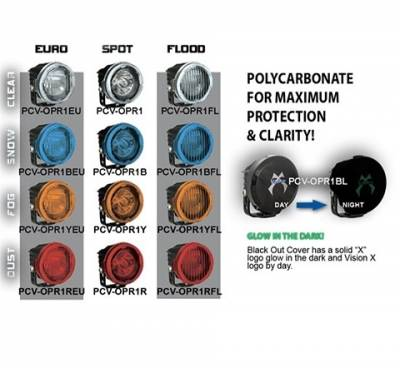 VISION X Lighting - VISION X OPTIMUS ROUND SNAP ON COVERS POLYCARBONATE AND SHATTERPROOF  -PCV-OPR