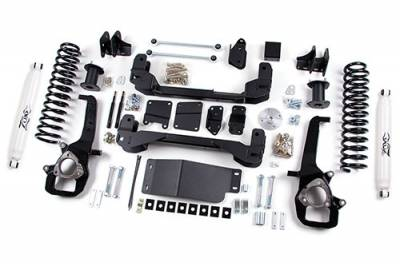 """Zone Offroad - Zone Offroad 4"""" IFS Suspension Lift Kit System for 09-11 Dodge Ram 1500 Pickup 4WD - D1 / D23"""