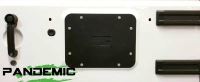 Pandemic Spare Tire Carrier Delete Plate (Aluminum) For Jeep Wrangler JK & JKU 07-18 - PAN-5005