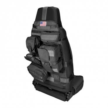Rugged Ridge - Cargo Seat Cover, Front, Black, Jeep CJ 76-86, Wrangler YJ 87-95, TJ 97-06, JK 07-15, Sold Individually COV-A   -13236.01