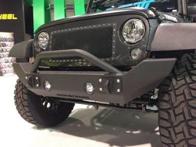 IRON CROSS - IRON CROSS Front Full Width Bumper for Jeep Wrangler JK JKU 07-18 - WITH BAR - GP-1300