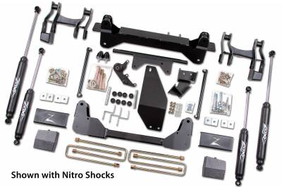 """Zone Offroad - Zone Offroad 6"""" IFS Lift Kit System for 88-98 Chevy / GMC K1500 / 2500 Pickup 6 Lug 4WD - C14"""