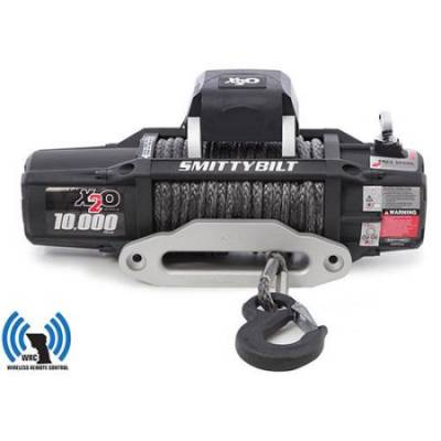 Smittybilt - X2O 10 Comp Gen2 10,000 lb Winch Comp Series W/Synthetic Rope Aluminum  Fairlead Smittybilt