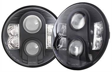 PRO COMP - Pro Comp Explorer Lighting 7 Inch Round LED Headlamp Replacement - Pair (Clear) | NEW PRODUCTION - 76402P