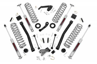"""Rough Country - Rough Country 2007 - 2018 Jeep JK Wrangler 3.5"""" Suspension Lift Kit *Choose Model* - 60830-60930"""