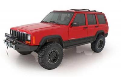 Smittybilt - Smittybilt XRC Rock Sliders For 84-01 Cherokee XJ 2 or 4 Door - Textured Black Powdercoat