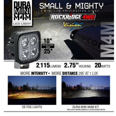 VISION X Lighting - Vision X DURA MINI M4M - DURA-M4M