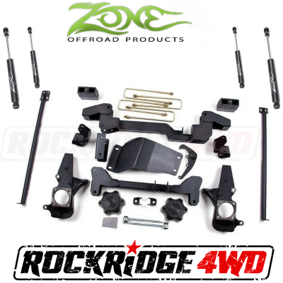 "Zone Offroad - Zone Offroad 6"" IFS System 01-10 Chevy / GMC 2500/3500 Pickup HD Silverado / Sierra / Avalanche 2500 & Suburban / Yukon XL 4WD - C4N"