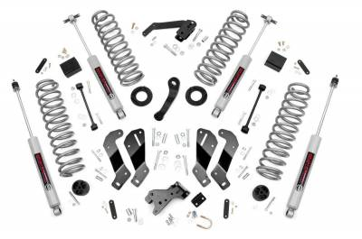 Rough Country - Rough Country 3.5IN JEEP SUSPENSION LIFT KIT | CONTROL ARM DROP (07-18 WRANGLER JK) *Select Model & Shock Options* - 69330,69330V