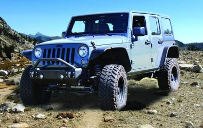 IRON CROSS - IRON CROSS Front Stubby Bumper for Jeep Wrangler JK 07-18 - WITH BAR - GP-1200