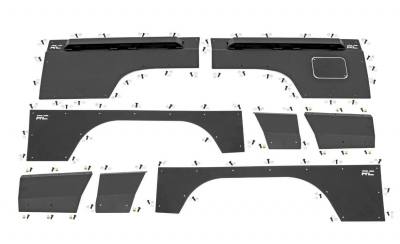 Rough Country - ROUGH COUNTRY Jeep Front & Rear Upper and Lower Quarter Panel Armor - (84-96 Cherokee XJ) - 10580