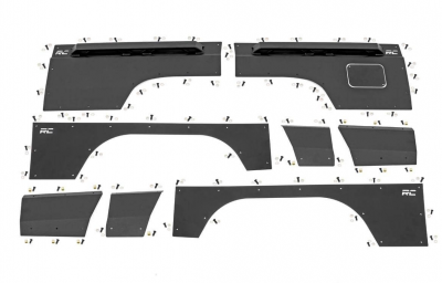 Rough Country - ROUGH COUNTRY Jeep Front & Rear Upper and Lower Quarter Panel Armor - (97-01 Cherokee XJ) - 10581