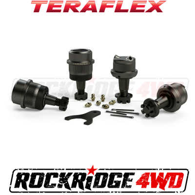 TeraFlex - TERAFLEX TJ/LJ Dana 30 | Dana 44 Upper & Lower HD Ball Joints w/ Knurl - Set of 4