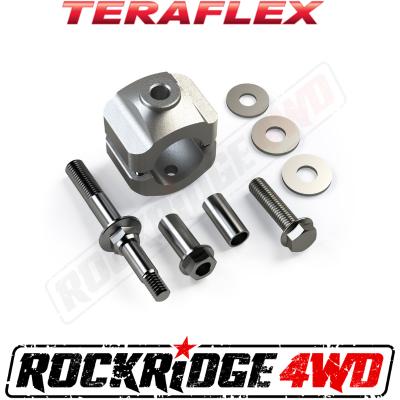 """TeraFlex - TERAFLEX JK/JKU Steering Stabilizer Relocation Mounting Bracket Kit - Stock 1-3/8"""" Tie Rod"""