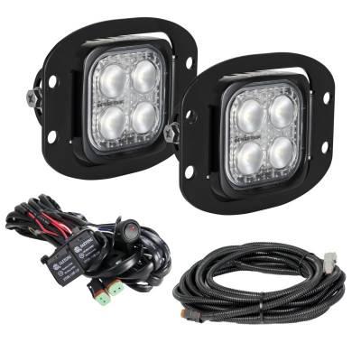 "VISION X Lighting - VISION X 3"" Flush Mount Kit With (2) 60° 4 LED Mini Dura Work Lights"