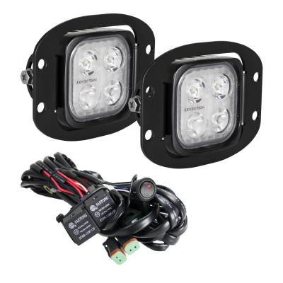 """VISION X Lighting - Vision X 3"""" Flush Mount Kit With (2) Mixed 10° and 20° 4 LED Mini Dura Work Light"""
