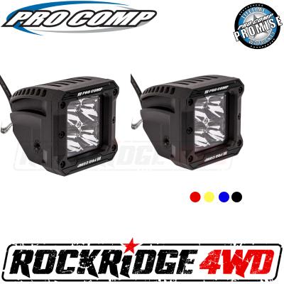 PRO COMP - Pro Comp 2x2 Square S4 GEN3 LED Spot Lights - 76414P