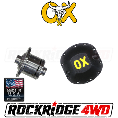 OX Locker - DANA 30 OX Locker (3.73 & UP) 30 SPLINE JEEP CJ XJ MJ YJ TJ LJ ZJ JK WJ - Includes HEAVY DUTY Differential Cover!  -OX-D30-373-30