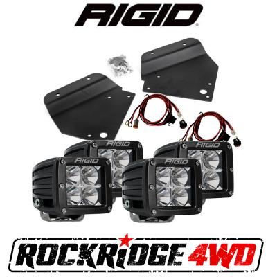 RIGID INDUSTRIES - RIGID Fog Light Kit w/ 4 D-Series PRO LED Lights for 10-14 Ford Raptor SVT