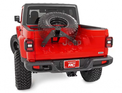 Rough Country - ROUGH COUNTRY BED MOUNTED TIRE CARRIER (2020 JEEP GLADIATOR)