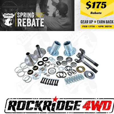 Yukon Gear & Axle - Spin Free Locking Hub Conversion Kit for Dana 60 & AAM, 00-08 SRW Dodge