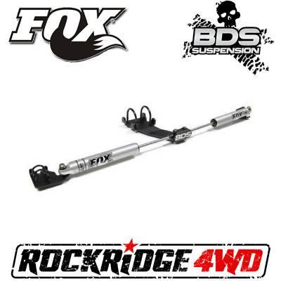 BDS Suspension - BDS | FOX 2.0 DUAL STEERING STABILIZER KIT FOR 97-06 Jeep Wrangler TJ | 87-01 Cherokee XJ | 93-98 Grand Cherokee ZJ