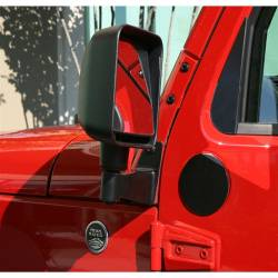 Doors & Tube Doors - Jeep Wrangler JK 07+ - Rugged Ridge - Door Mirror Relocation Brackets, Pair, Black 07-15 Jk Wrangler   -11025.04