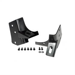 Lighting - Mounting - Rugged Ridge - Windshield Hinge Light Bracket Pair, Black, 97-06 Wrangler     -11027.02