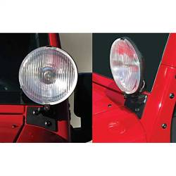 Lighting - Mounting - Rugged Ridge - Windshield Mount Light Bracket Pair Black Jk Wrangler 07-15      -11027.03