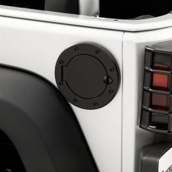 Exterior Body & Styling - Jeep Wrangler JK 07-18 - Rugged Ridge - Fuel Cover Black Stainless Steel JK Jeep Wrangler 07-15  -11229.02