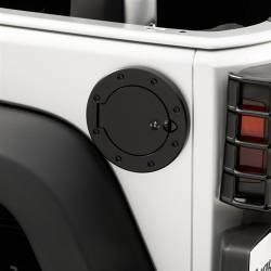 Fuel Cover Locking, Black Stainless Steel,Rugged Ridge, JK Jeep Wrangler 07-15 -11229.03