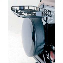 Exterior Body & Styling - Jeep Wrangler YJ 87-95 - Rugged Ridge - Easy Load Trail Rack, Rugged Ridge, Jeep Wrangler (Yj) 87-95, (Tj) 97-02 This Tailgate Rack **Will Not Work**On TJ'S Built After 2002     -11237.11