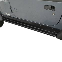 Rocker Armor - Jeep Wrangler TJ / LJ 97-06 - Rugged Ridge - Rocker Guards Heavy-Duty, Rugged Ridge, Jeep Wrangler (TJ) 97-06   -11504.15